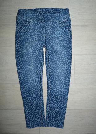 Скинни, джинсы в цветочек kiki&koko на рост 104