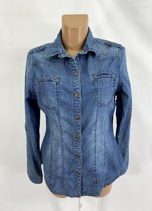 Рубашка джинсовая, стильная next jeans
