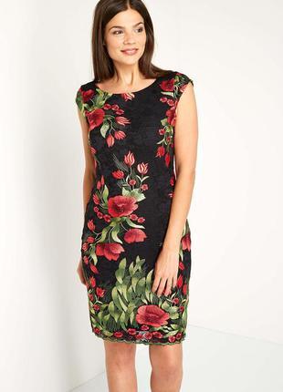 Роскошное кружевное платье в цветы roman originals