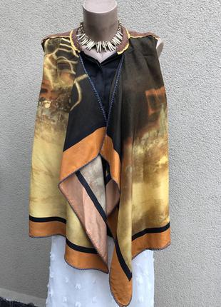 Винтаж,эксклюзив,блуза-кардиган,многослойная,шелк,этно бохо стиль