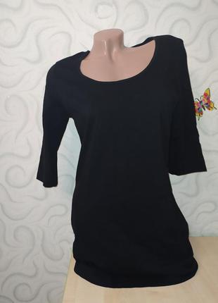 Трикотажное чёрное платье