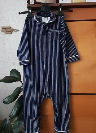 Прикольный человечек-пижамка для юного джентльмена