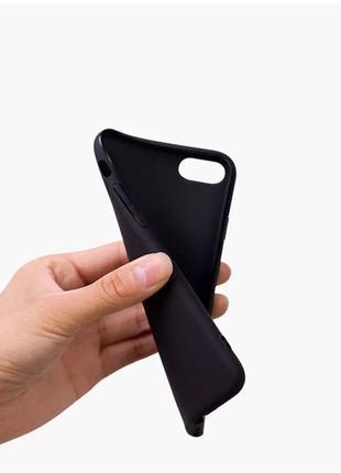 Мягкий чёрный силиконовый чехол на iphone 6, 6s