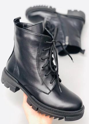 Lux обувь! натуральные кожаные женские демисезонные ботинки на...