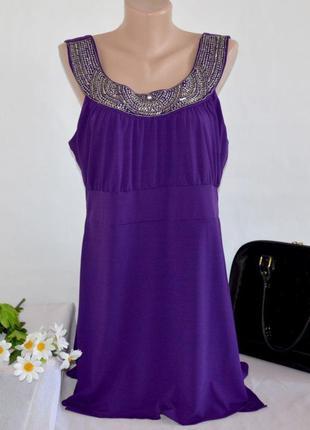 Брендовое фиолетовое вечернее нарядное платье туника klass col...