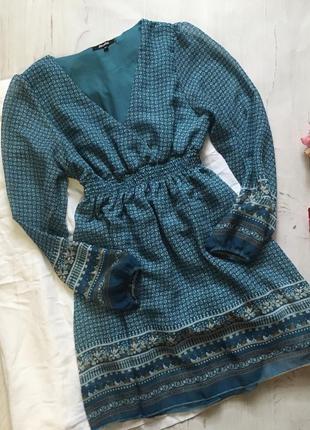 Красивое платье с принтом(m/l)