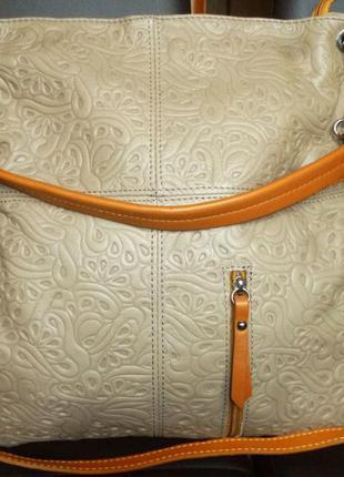 Шикарная вместительная  сумка натуральная кожа borse in pelle ...