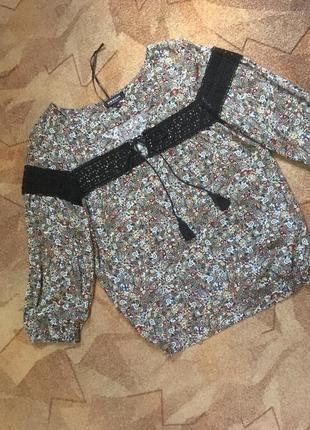 Блуза с ажурными вставками от morgan