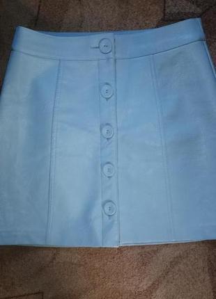 Кожаная юбка от stradivarius