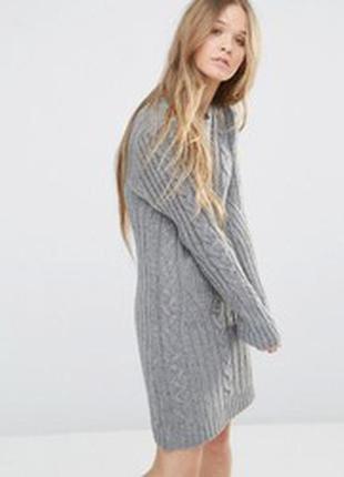 Теплое вязаное платье свитер оверсайз от twintip