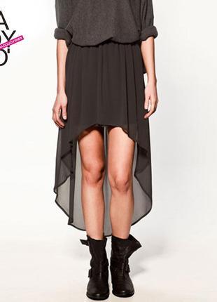 Платье шифоновое со шлейфом