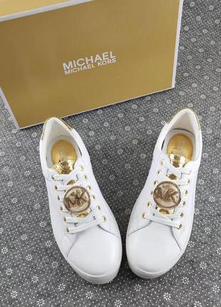 Белые кеды michael kors