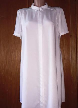 Стильное платье рубашка с кружевом на спине от french connection