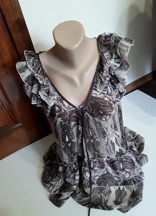 Фирменная легкая блуза блузка