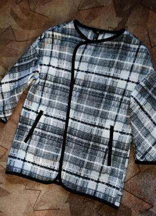 Шерстяной кардиган легкое пальто