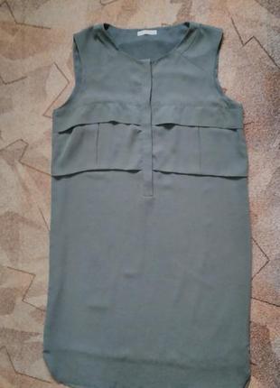 Платье рубашка цвета хаки от promod