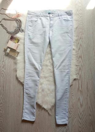 Голубые скинни джеггинсы джинсы средняя талия американки узкач...