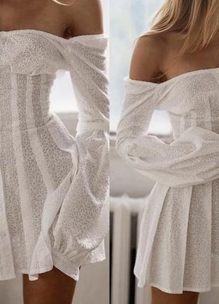 Легка літня сукня, біле плаття, тренд 2020, сукня з відкритими...