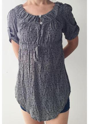 Туніка, футболка, длинная серая футболка.