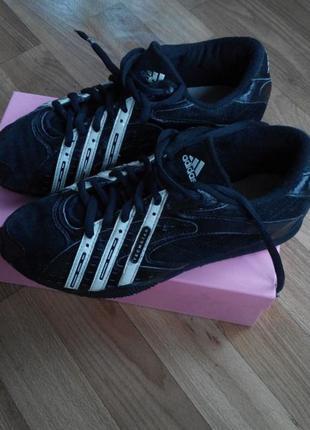 Натуральные замшевые кроссовки adidas techstar