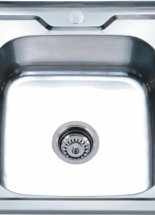 Мойка кухонная накладная из нержавейки 50*50 см в комплектации