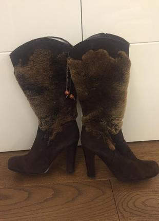 Обалденные зимние кожаные  сапоги