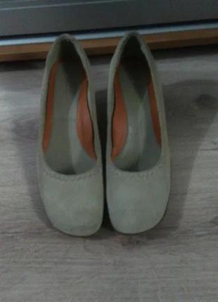 Туфли ecco бежевые