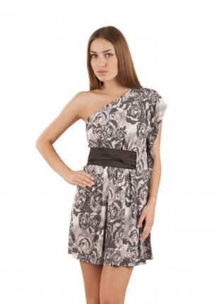 Туника летняя молодежная масло ткань, платье серое повседневное
