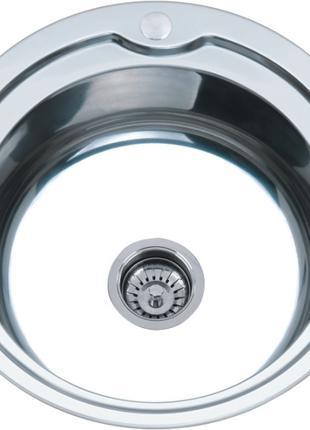 Мойка кухонная врезная из нержавейки 510 мм 0,8 в комплектации