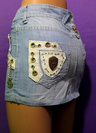 Юбка короткая джинсовая молодежная, юбка красивая