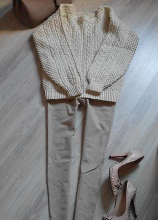 Шикарный свитер из толстой пряжи