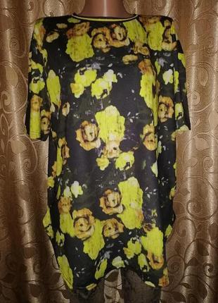 🌺🎀🌺красивая женская футболка в цветочный принт atmosphere🔥🔥🔥