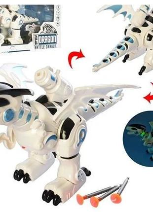 """Робот """"дракон"""" ходит, звуковые эффекты, стреляет ракетами на прис"""