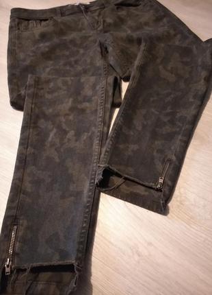 Брендовые джинсы камуфляж zara оригинал