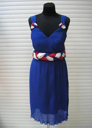 Платье летнее с завышенной талией молодежное гофрированный шифон