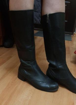 Демисезонные кожаные сапоги  ara, германия