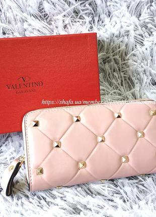 Женский кожаный кошелек в стиле vltn valentino валентино