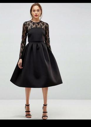 Шикарное чёрное платье размер 48-50 asos