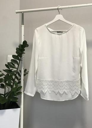 #розвантажуюсь белая блуза с кружевом