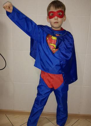 Карнавальный костюм детский супермена superman на 6-8 лет