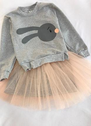 Костюм зайка с фатиновой юбкой