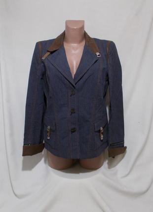 Новый жакет в джинсовом стиле хлопок-лен 'riani' 46р