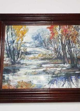 Картина пейзаж, масло, художник vorobey, 1998 год.