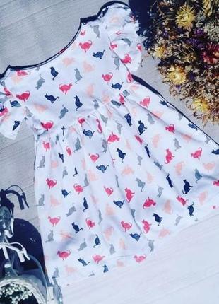Хлопковое платье на лето