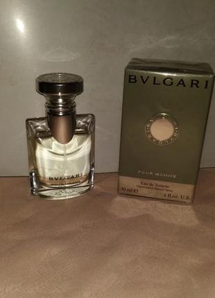 Bvlgari pour homme. мужская туалетная вода, 30ml.