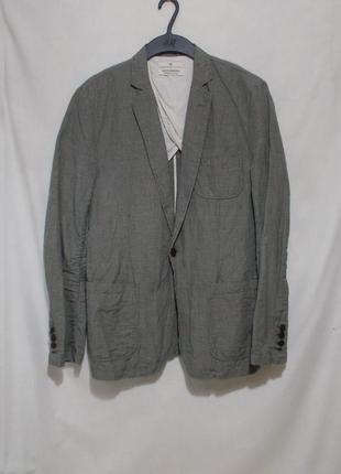 Новый неформальный мятый пиджак лен-хлопок 'scotch&soda' 48р