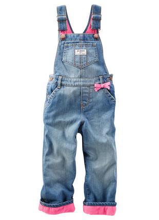 #розвантажуюсь теплый джинсовый комбинезон на флисе oshkosh