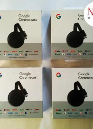 Медиаплеер Google Chromecast 3rd Gen + Подарок + Скидка • Магазин