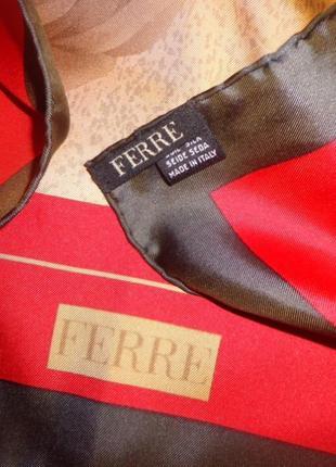 Ferre оригинал роскошный платок 100% шёлк италия