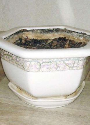 Цветочный горшок керамический греческий античный большой для р...